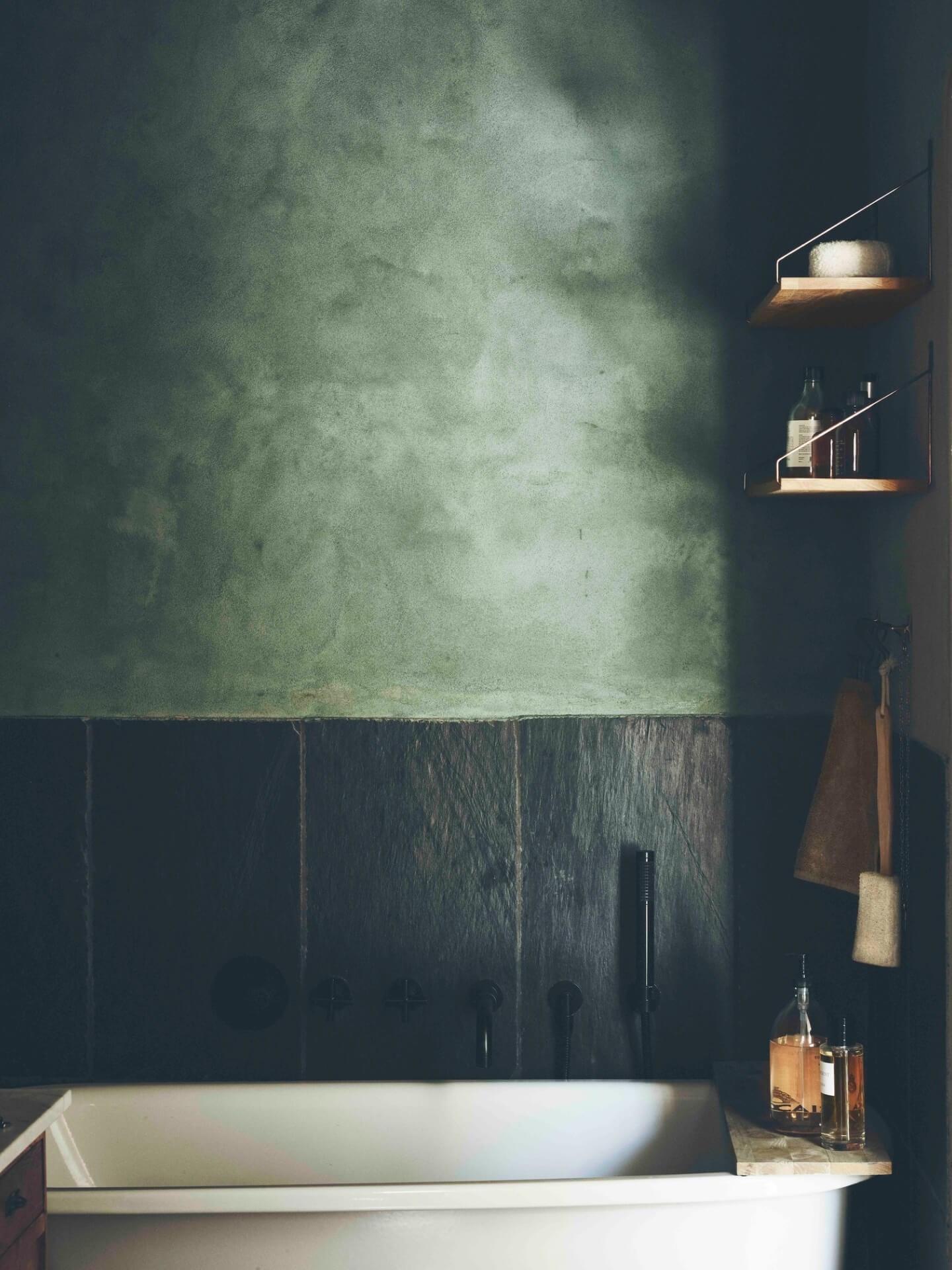 Stiler og farger: Grønt bad i Frama Studio Apartment | Eitra