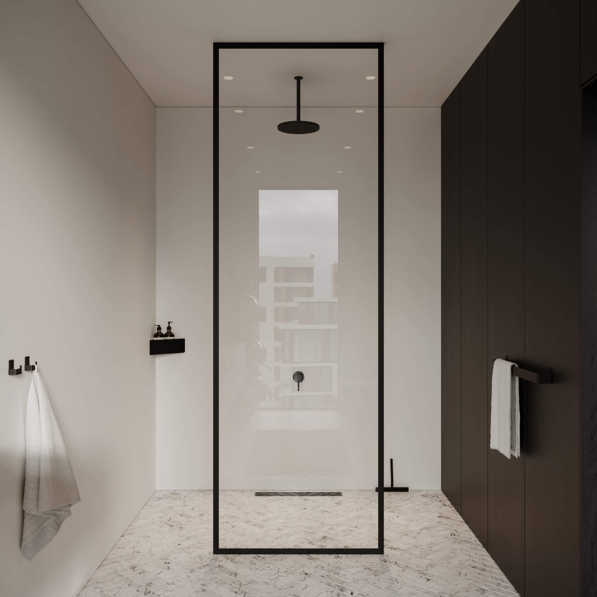 Nichba: Hyller og dorullholder i minimalistisk stil | Eitra Bad