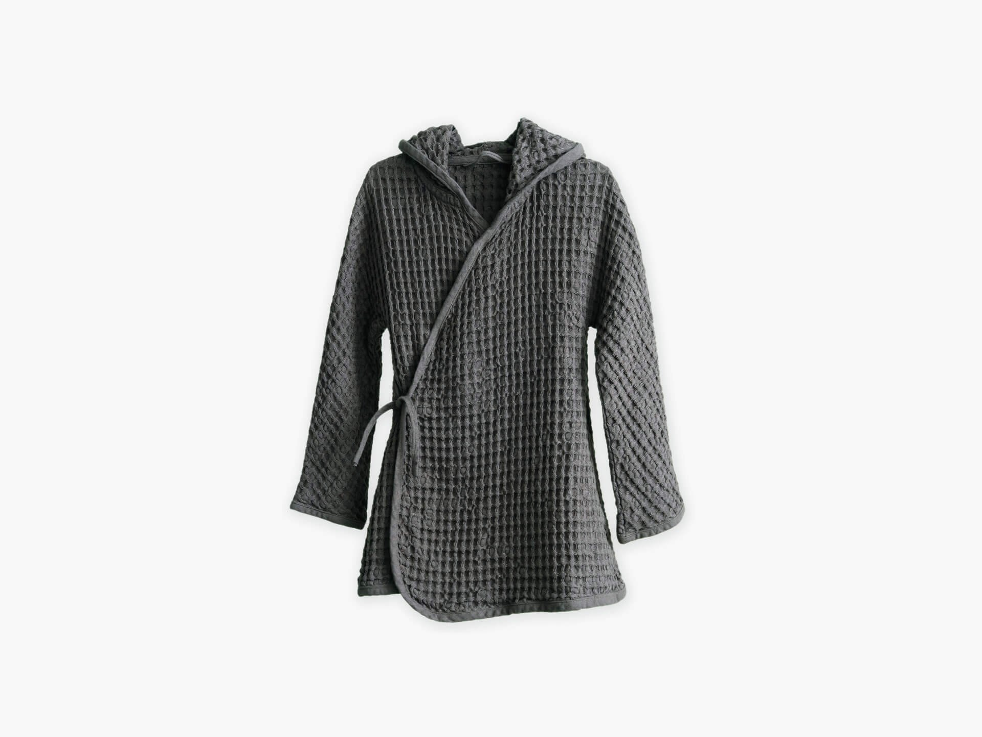 The Organic Company Big waffle kids bathrobe